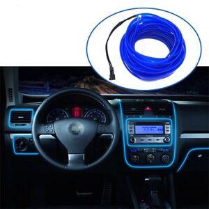 Car Interior Decorative Atmosphere Light Trim Lamp Strip Blue Cold lights