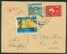 BANGLADESH 1970 forerunner on Pakistan uprated postal stationery rural cancel