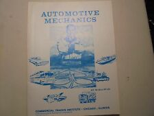 Automotive Mechanics Commercial Trades Institute AT-16 thru AT-20