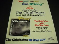 CHIEFTAINS with Van Morrison win a Grammy 1996 PROMO POSTER AD mint condition