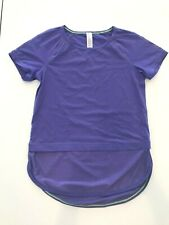 Ivivva Run Day Fun Day Tee- Girls Purple Short Sleeve |  Size 12