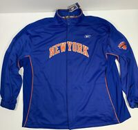 VTG New York Knicks Reebok On the Court Warm Up Jacket 3XL NBA Deadstock W Tags