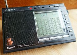 Vintage Sony ICF-7600DA 15 Band FM/LW/MW/SW PLL Receiver & AN-61 Compact Antenna