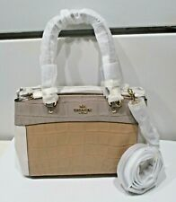COACH F28079 PURSE WOMEN'S HANDBAG MINI BROOKE CARRYALL IN COLORBLOCK CREAM