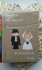 Actividad de boda Personalizado Para Niños/libro coloración Pack invitados de papel vintage