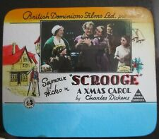 SCROOGE 1935 Rare Australian cinema glass slide Seymour Hicks Donald Calthrop