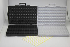 ESD safe SMD IC box w/144 bins SMD SMT Transistor organizer + BOX-ALL-144 UK