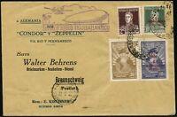 Zeppelin Argentinien 1932 1. Südamerikafahrt Brief Braunschweig Si 140 I / 621