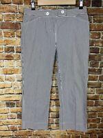 Jones New York Sport Stretch Capri Crop Pants Womens 6 Black & White Striped