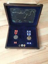 Orden Nato Medaille Einsatzmedaillen ISAF Afghanistan Holzkiste DSB abzeichen