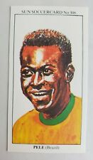 Vintage PELE 1979 The Sun SOCCER CARD #308 BRAZIL PELE football Printed in UK