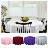Fabric Tablecloth Round Washable Table Cover Banquet Wedding Party Decor N7
