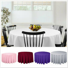 Round Table Cover Wedding Party Desk Oil Proof Banquet Satin Tablecloth SK