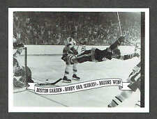 Bobby Orr Scores to Give Boston the 1971 Stanley Cup Sample Oversized Promo Card