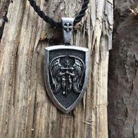 Archangel St Michael Protection Saint Pendant Necklace Jewellery Shield Talisman