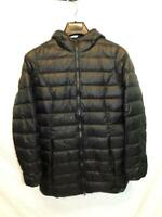 Eddie Bauer S Black Down Jacket With Hood Full Zip Lightweight Packable Women Sm