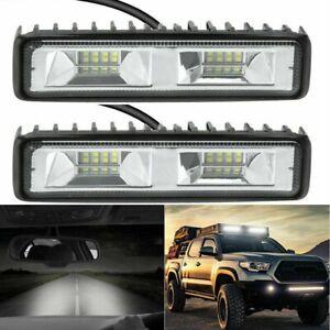 2X 12V 48W LED Work Light Bar Flood Spot Lights Driving Lamp Offroad Car SUV UK