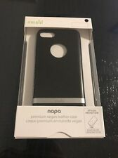 Moshi iGlaze Napa Vegan Leather Shock Absorbent Case iPhone 7 Black - NEW!!