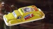 FRESH MILK, MINIATURE DELIVERY TRUCK VINTAGE JAPANESE TIN LITHO  FRICTION TOY
