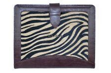 New Cover Case Stand iPAD 2 3 & 4 Brown Zebra Print Luxury Real Genuine Leather