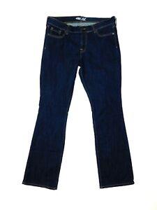 Old navy Women's the flirt denim blue jeans dark wash size 10 long