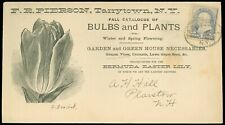 1887c Tarrytown, Illustrated Advert Cover, Bulbs Plants Grapes Vines Lawn Seeds!