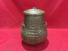 ANTIQUE 1828 HAND HAMMERED COPPER POT JUG BOWL