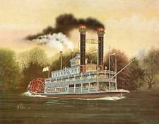 """Set of 2 Riverboats prints """"the Mark Twain"""", and the """"Belle"""" by K Chin"""
