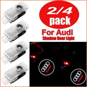 2/4PC Audi Cree LED Projector Car Door Lights Laser Courtesy Puddle Shadow Lamps