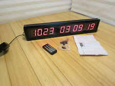 "1.8"" 10 Digits LED Digital Countdown & Up Clock Days Hours Mins Secs US Seller"