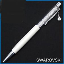 Swarovski  Crystalline  Ballpoint Pen, White, Solitaire    New