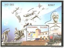 O) 2012 COLOMBIA, TRAIN RAILROAD STATION, MONUMENTS LA BAMBUQUERA-LA GAITANA-DON