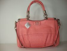New Coach Madison Woven Carrie 23341 Salmon