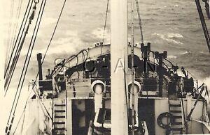 WWII German Navy Large RP- Kriegsmarine- Waves- Warship- North Sea Convoy- 1942