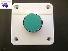 MOMENTARY GREEN FLUSH  PUSHBUTTON  SWITCH WITH CONTROL BOX  N/O