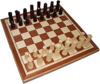Schachbrett mit Schachfiguren handgeschnitzt 56x56cm, Schachspiel, Schach Holz