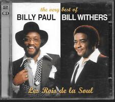 2 CD COMPIL 33 TITRES--BILLY PAUL & BILL WITHERS--LES ROIS DE LA SOUL