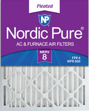 Nordic Pure 10x20x2 Pleated Merv 8 Air Filters 3 Pack