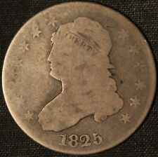 1825/4/2 Capped Bust Quarter - Free Shipping USA