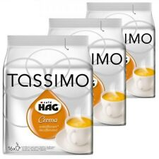 TASSIMO CAFE HAG CREMA DECAFFEINATED T-DISCS( 3  x 16 = 48  PACKS COFFEE PODS )