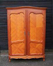 Louis XV Style Vintage French Mahogany Veneer 2 Door Wardrobe  -  (C2WR8)