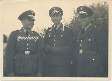 Foto  Soldaten Luftwaffe mit Schirmmütze  2.WK (d556)