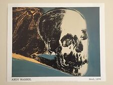 ANDY WARHOL ORIGINAL  OFFSET LITHOGRAPH POSTER THE SKULL