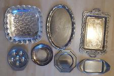 7 verschiedene Servierplatten aus leichtem Metall