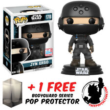 FUNKO POP STAR WARS ROGUE ONE JYN ERSO NYCC 2017 EXCLUSIVE + FREE POP PROTECTOR