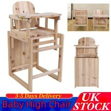 Baby High Chair Infant High Feeding Tray3 in1 Toddler Table Chair Durable Wooden