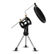 Mini Table Desk Shockproof Microphone Mic Stand Holder Tripod Aluminum Alloy