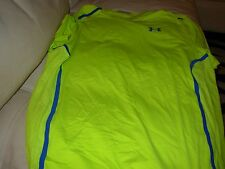 UNDER ARMOUR MENS VENT HEATGEAR YELLOW WORKOUT FITTED JERSEY X-LARGE $59.99 NWT