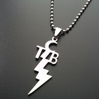 "Elvis Presley TCB Stainless Steel Pendant With 23.7"" Chain Necklace Jewelry Gift"