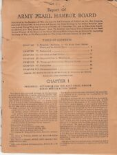 Report of ARMY PEARL HARBOR BOARD July 1944 Relating to Attack On Hawaii 82 Pgs
